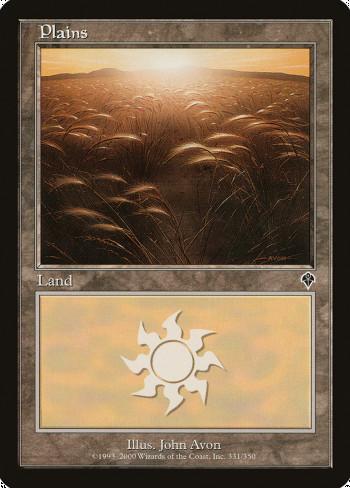 The original card image for Plains