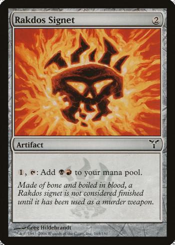 The original card image for Rakdos Signet