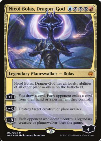 The original card image for Nicol Bolas, Dragon-God