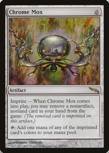 The original card image for Chrome Mox