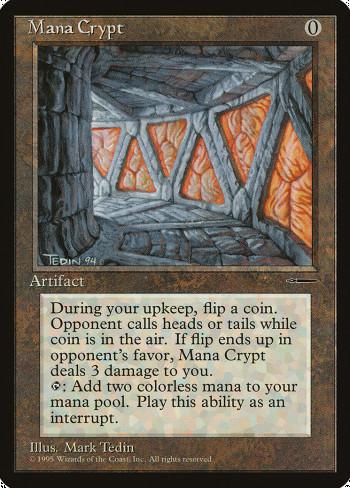 The original card image for Mana Crypt