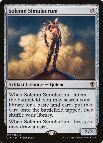 The original card image for Solemn Simulacrum