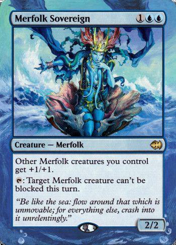 Merfolk Sovereign alter by Targa Alters