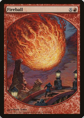 The original card image for Fireball